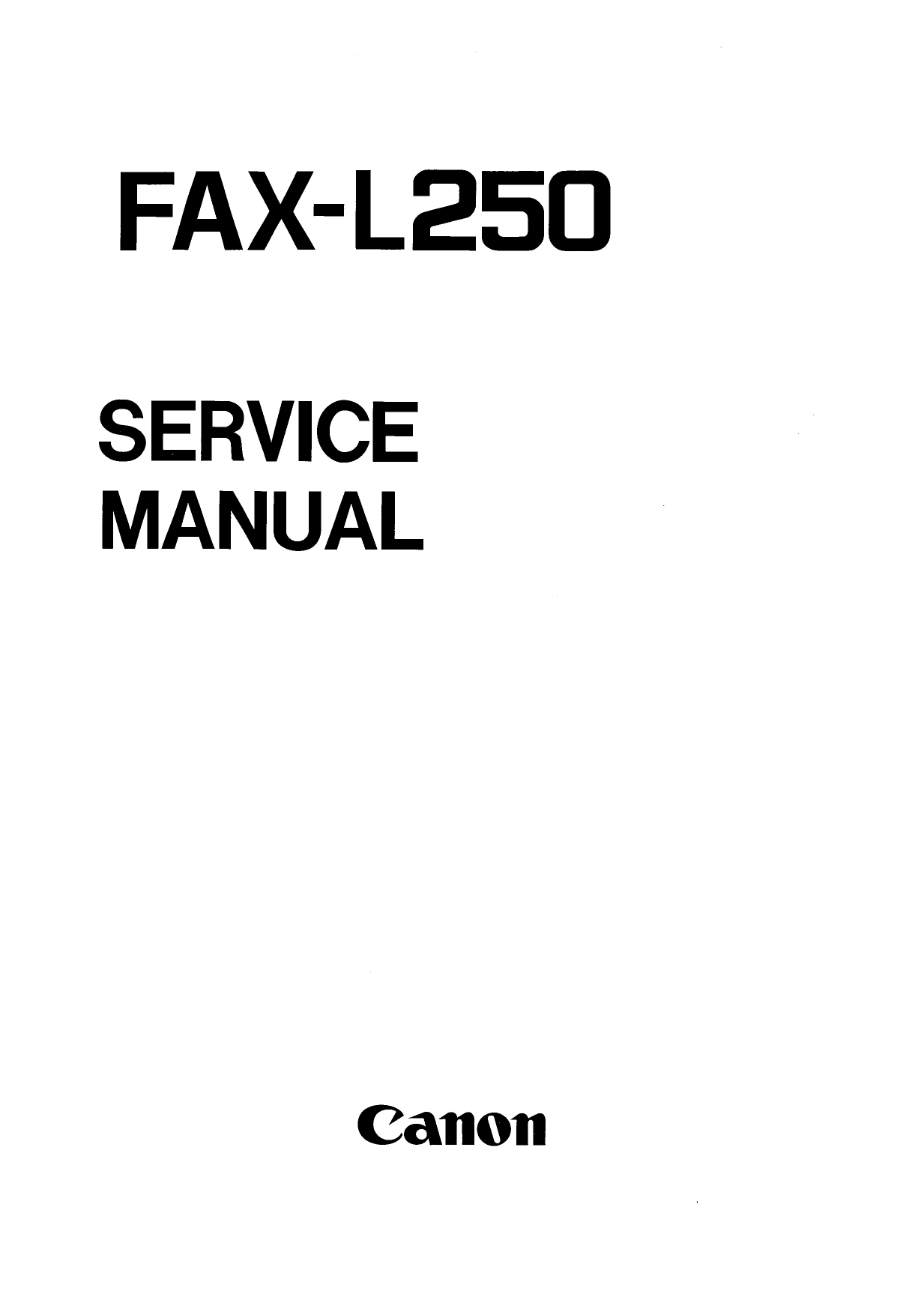Canon FAX L250 Parts and Service Manual-1